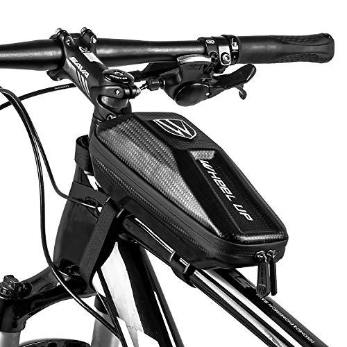 JuguHoovi Fahrrad Rahmentasche Wasserdicht für MTB Handy Fahrrad Rahmentasche Oberrohrtasche Fahrradtasche Klein Fahrrad Zubehör Herren Radfahre Handytasche Mountainbike Tasche (1.6L)