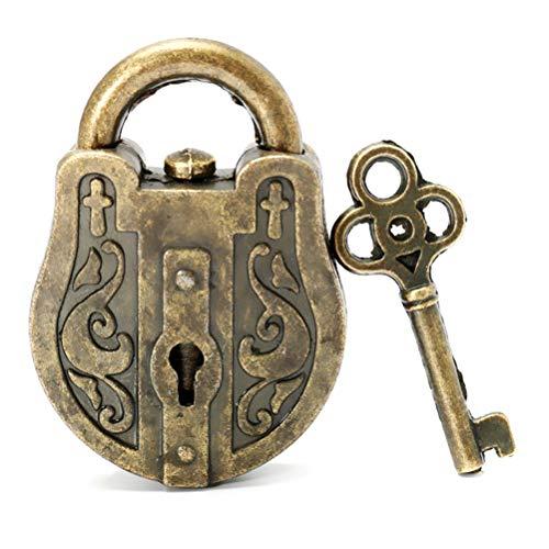 Vintage Lock, candado Chino, candado de Metal Vintage con Rompecabezas, Juguete Educativo