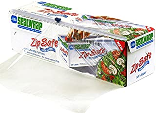 "SealWrap 30510600 Zipsafe Plastic Wrap, 12"" Wide by 3000' Length, PVC, Clear"