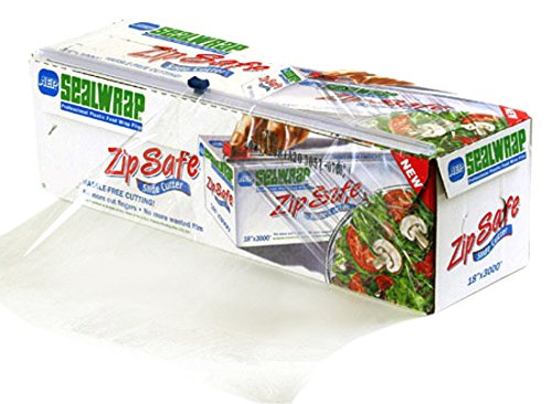 SealWrap 30510600 Zipsafe Plastic Wrap, 12' Wide by 3000' Length, PVC, Clear