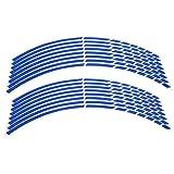Etiqueta de la llanta de la llanta de la rueda de la motocicleta 16pcs, etiqueta adhesiva de la etiqueta de la rueda de la llanta de la motocicleta Accesorio de la decoración de la etiqueta(azul)