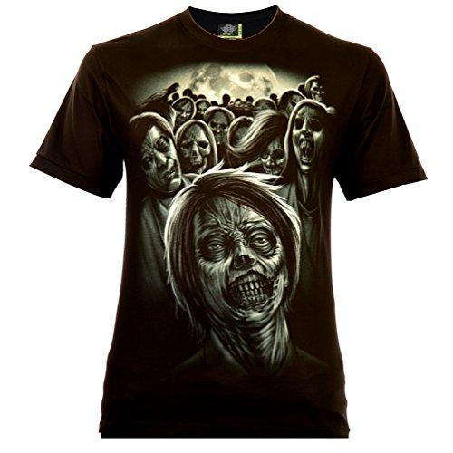 Lost Souls Zombies Herren T-Shirt Schwarz Gr. XL Glow in The Dark