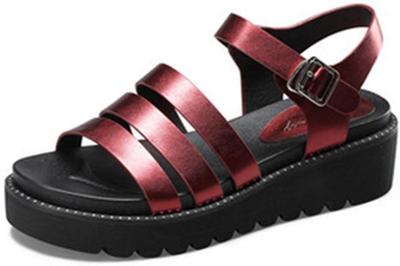 Liuhoue Damen Sommersandalen, Lssige Dicke Sohle Hang mit Zehenffnung Mittleren Gurt Schnalle Sandalen
