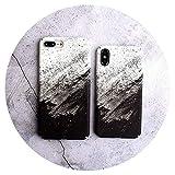 Fashion-Lover - Carcasa rígida para iPhone 6, 6S, 6Plus, 7, 8 Plus, X, funda protectora rígida para teléfono móvil, arco iris, para iPhone 7 Plus