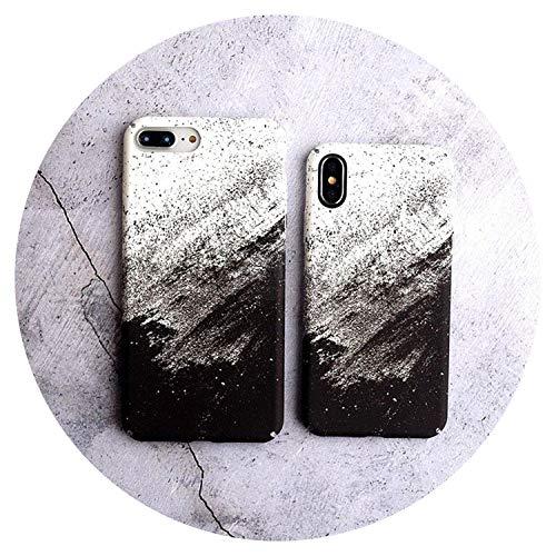 Fashion-Lover tinta pintura paisaje teléfono caso para iPhone 6 6s 6plus 7 8 plus X carcasa protectora duro PC teléfono móvil contraportada, arco iris, para iPhone 8 Plus