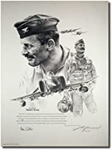 Robin Olds Portrait by John Shaw - Signed by Robin Olds - Aviation Art Prints