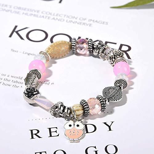 Böhmische Muschelstück Kristall Perlen Mode Damen Handgemachtes Armband 317-Pulver