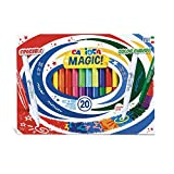Carioca Rotuladores Magic Markers | Set Rotuladores Punta Maxi Borrables y Cambia Color para Niños, Tinta Mágica, Colores Surtidos 20 Uds