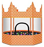 ASDDD Outdoor Large-Scale Trampoline with Net Trampoline for Kids, Children's Castle Trampoline, Indoor Entertainment Sports Games Trampoline, Garden Bouncer with Safety Net