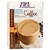 HealthSmart - High Protein Meal Replacement Shake - Coffee - 15g Protein - 100 Calories - Low Fat - Gluten Free (7/Box)