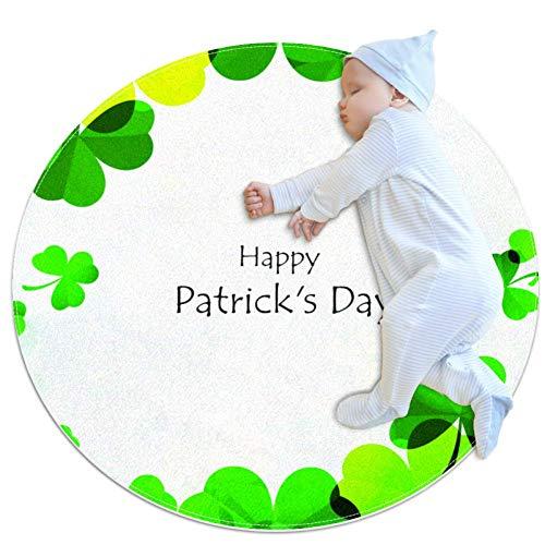 ghbdfg Happy Saint Patrick's Day Logotype Baby Krabbelunterlage für Jungen und Mädchen - Spieldecke Boden Teppich Kinderzimmer Dekoration, 27,6x27,6IN, Mehrfarbig01, 70x70cm/27.6x27.6IN