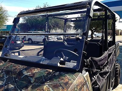 A&S AUDIO AND SHIELD DESIGNS 2015-2021 POLARIS RANGER 570 2 SEAT MID SIZE, 2015-2019 POLARIS RANGER ETX, EV, EV LI-ION 1/4'' POLYCARBONATE FOLD DOWN WINDSHIELD
