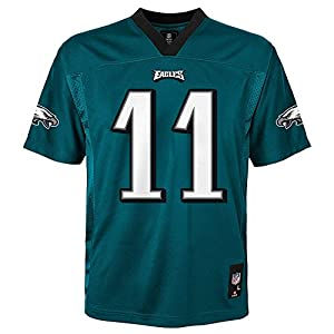 Carson Wentz Philadelphia Eagles NFL Youth Green Home Mid-Tier Jersey (Youth Large 14-16)