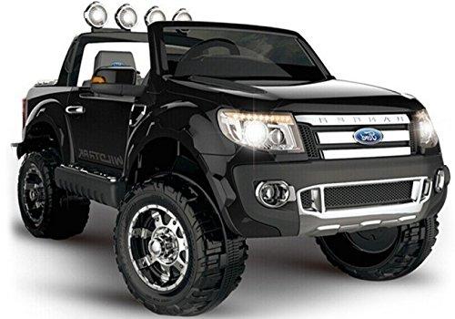 Elektro Kinderauto Elektrisch Ride On Kinderfahrzeug Elektroauto Fernbedienung - Ford Ranger 2-Sitzer - Schwarz*