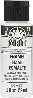 FolkArt Plaid:Craft Enamel Paint, 2-Ounce, Transparent Medium, Clear