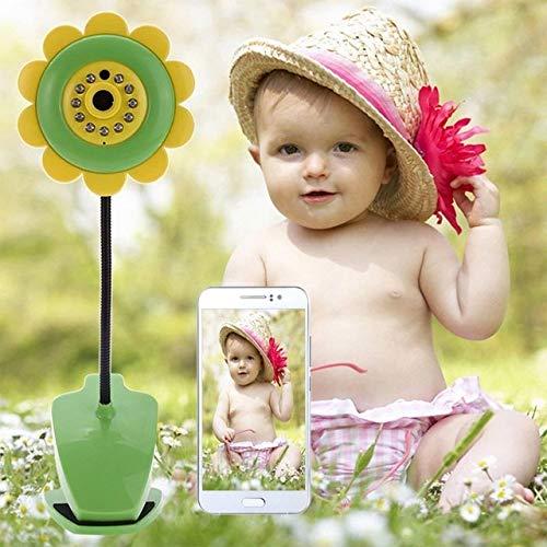 ZZKK Zonnebloem design draadloze baby-camera monitor voor thuis bloem design camera video babyzitter Night Vision