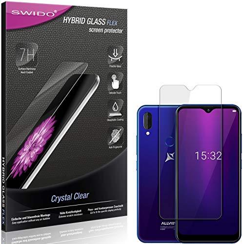 SWIDO Panzerglas Schutzfolie kompatibel mit Allview Soul X6 Mini Bildschirmschutz-Folie & Glas = biegsames HYBRIDGLAS, splitterfrei, Anti-Fingerprint KLAR - HD-Clear