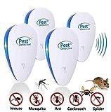 Moonssy Lot von 4 Ultraschallschutzmitteln gegen Parasiten und schädliche Insekten wie Mäuse, Mücken, Kakerlaken usw.