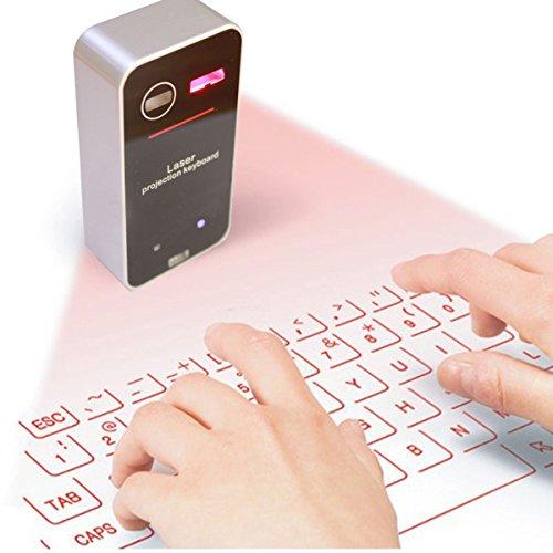 YONGCHY Bluetooth-Tastatur, Tragbare Mini Drahtlose Bluetooth Tastatur-Projektor-Projektions-Tastatur-Maus Für Tablet Telefon Virtuelle Tastatur Bluetooth Tastatur-Maus