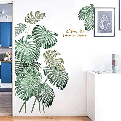 BLOUR Neue Wandaufkleber Nordic Tropical Plants Monstera verlässt den Garten Kleine frische Dekoration Tapete Tapete Selbstklebend