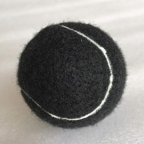 MENGDI Farbtennis Hochwertiger Tennisball für das Training 100% Kunstfaser Guter Gummi Wettbewerb Standard Tennisball-Schwarz * 3