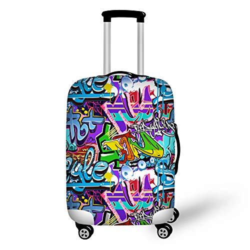 Showudesigns Graffiti Travel Luggage Cover Dustproof Suitcase Protective Cover for 26'27'28' Trolley Case