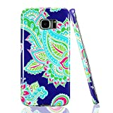 Technext020 Ultra Slim Fit Silicone Phone Case Compatible for Galaxy S7 Edge, Blue Flower