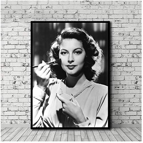 Kongzir Ava Gardner Poster Canvas Painting Print Wall Art Pictures for Living Room Decoration -50X70Cmx1Pcs -No Frame