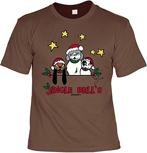 neues Herren T-Shirt - Motivshirt: Jingle Bells - Tshirt Shirt Herrenshirt Geschenk Sprücheshirt Funshirt Sprüche Gr: XL