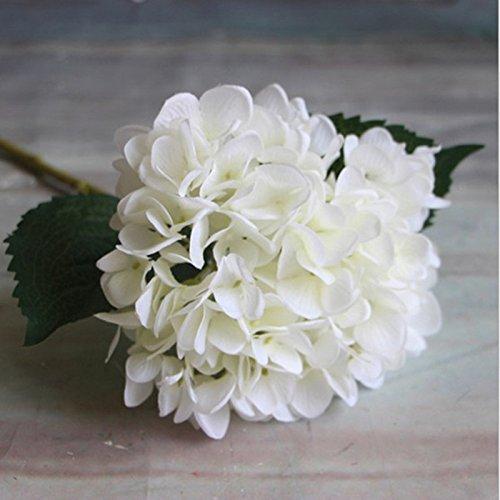 GUOYIHUA 1Künstliche Blooming Hortensie Seide Blumen Sträuße für Home Garten Decor Arrangements 【 Künstliche Blumen 】, Weiß, Normal