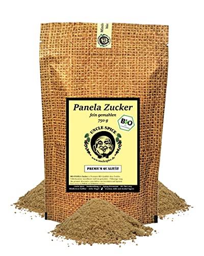 Uncle Spice BIO Panela Zucker - 750g feinster BIO Vollrohrzucker, Panelazucker unraffiniert - in Premium-BIO-Qualität - unraffinierter Rohrzucker aus 100{7ed2364870e76a09d61d91fed5300079e41f4297a5f457e69c564e3f91705fbb} ökologischem Anbau DE-ÖKO-005