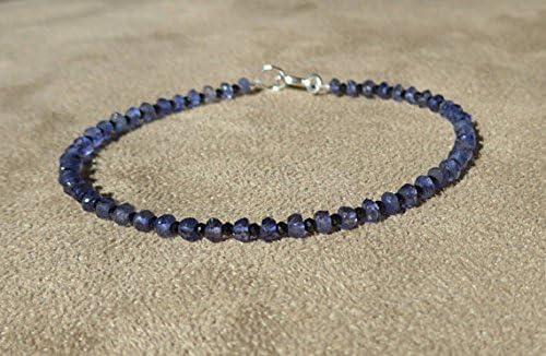 JP_Beads Iolite Bracelet Black Max Japan's largest assortment 64% OFF Bracel Spinel Gemstone