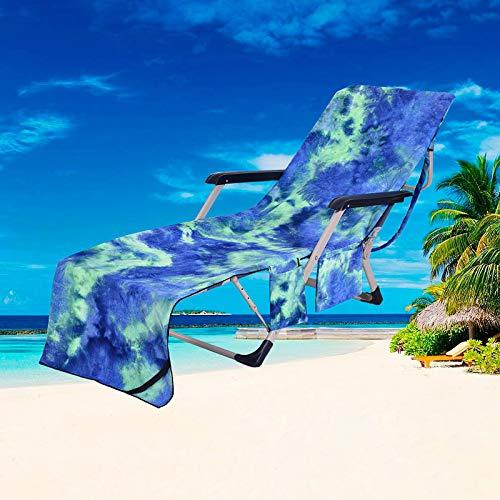 Miouldram Funda para sillón de playa, para piscina, salón, toalla de microfibra, de secado rápido, portátil, para sillón de playa, piscina, salón, vacaciones, tomar el sol