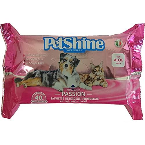 PORRINI Toallitas Higiene para Perro y Gato, Pasión