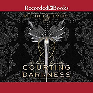 Courting Darkness                   Written by:                                                                                                                                 Robin LaFevers                               Narrated by:                                                                                                                                 Angela Goethals,                                                                                        Suzy Jackson                      Length: 17 hrs and 33 mins     2 ratings     Overall 4.5