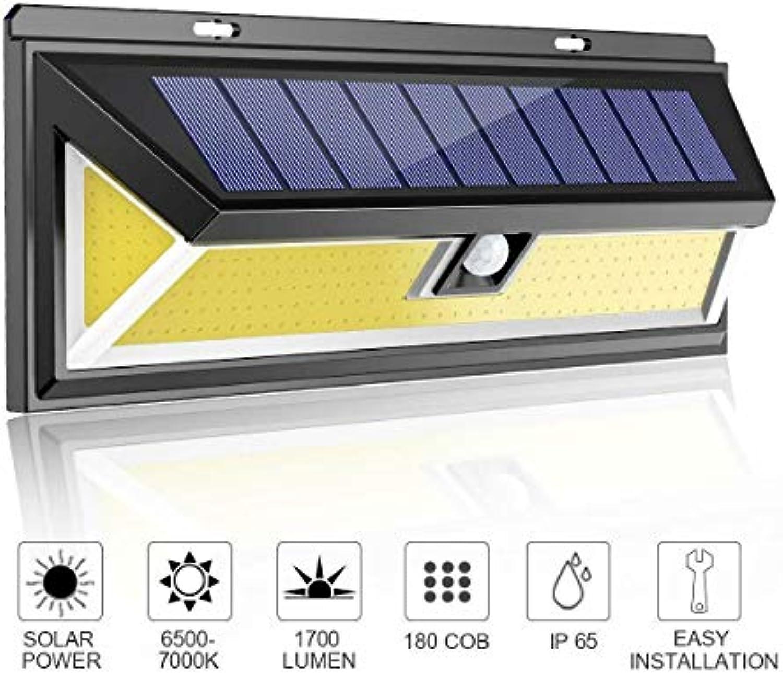 AMTSKR 180 Cob Outdoor Solar Lights Motion Sensor, Bright Wall Lights, 3 Optional Ligh