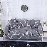 Funda de sofá con diseño de Flor de melocotón Fundas de sofá elásticas elásticas para Muebles de Sala de Estar Funda de sofá A23 2 plazas