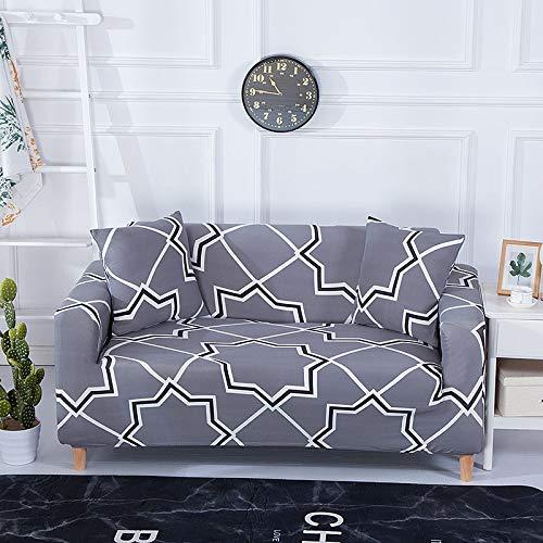 ASCV Funda de sofá Strecth con Estampado Floral Fundas de sofá de geometría elástica para Sala de Estar Fundas para sillón Funda de sofá A6 2 plazas