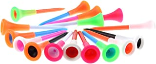 Rubber Cushion Top Plastic Golf Tees Mixed Colors Pack of 50pcs