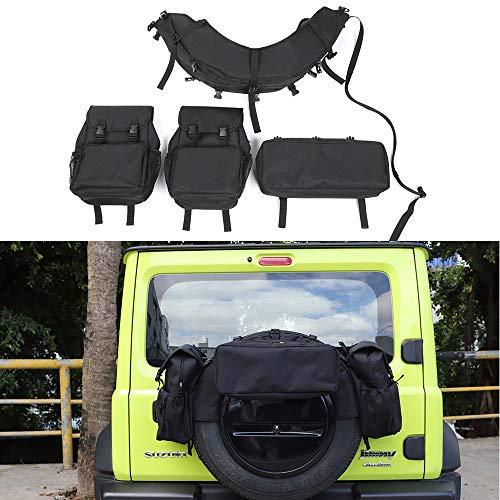 LIANGYUXIA 4 Piezas Accesorios externos Kit de Bolsa de Almacenamiento de neumáticos de Repuesto para el automóvil Organización de Almacenamiento automático para Suzuki Jimny 2019+