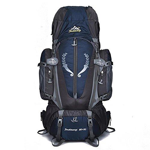 85L randonnée sac à dos nylon Camping alpinisme sac à dos Sacs Super léger 1.95 kg avec sac de taille courroies sternum et système de transport amovible H68 x L40 x T18 cm , dark blue