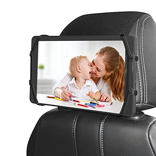 Car Headrest Holder, Kids Tablet ipad Holder for Car Back Seat, Car Headrest Mount Silicon Holder for All 7-10.3 Inch Fire Tablets