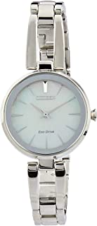Citizen Women's Solar Powered Wrist watch, stainless steel Bracelet analog Display and Stainless Steel Strap, EM0631-83D