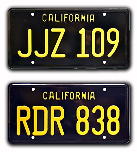 Celebrity Machines Bullitt | Mustang + Charger | Metal Stamped License Plates