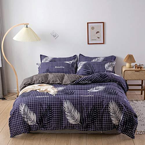 MMHJS Bettbezug Aus Mikrofaser 4-Teiliges Set Mit Digitaldruck Und Reißverschluss Bettdecke Decke Kissenbezug