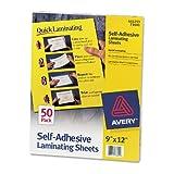 Avery Clear Self-Adhesive Laminating Sheets