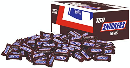 Snickers Schokoriegel   Minis, Erdnüsse   150 Riegel in einer Box (150 x 18 g = 1 x 2,7 kg)