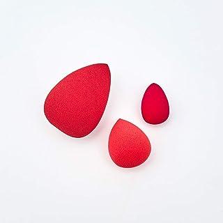 Drop Blend Sponge Trio Kit com 3 Esponjas Para Maquiagem, Vermelho, Océane, Vermelha