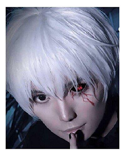 Kadiya Anime Silver White Cosplay Wig Synthetic Party Hair For Boy Teens