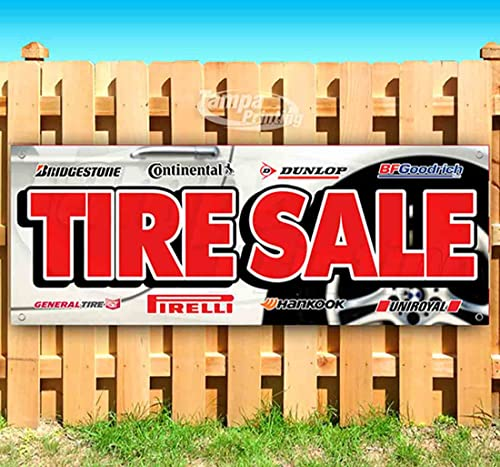 Tire Offer 13 oz Banner | Non-Fabric | Heavy-Duty Vinyl Single-Sided with Metal Grommets